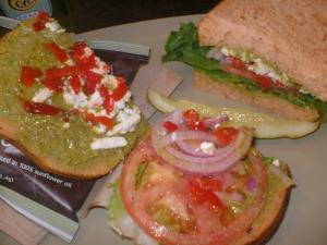 Mediterranean veggie sandwich